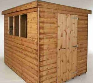 12' x 8' Traditional Standard Pent Shed Unpainted