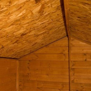 12 x 8 Waltons Overlap Apex Wooden Shed Inside View