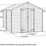12 x 8 Waltons Overlap Apex Wooden Shed Overall Dimensions