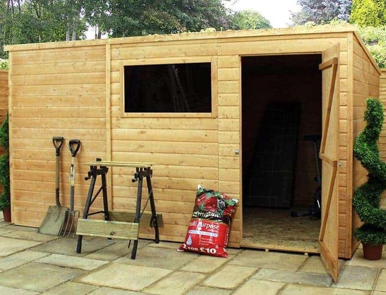12' x 8' Windsor All-Purpose Shiplap Pent Shed