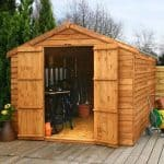 12' x 8' Windsor Overlap Apex Windowless Shed