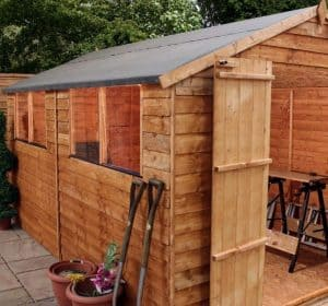 12' x 8' Windsor Overlap Double Door Apex Shed Side View