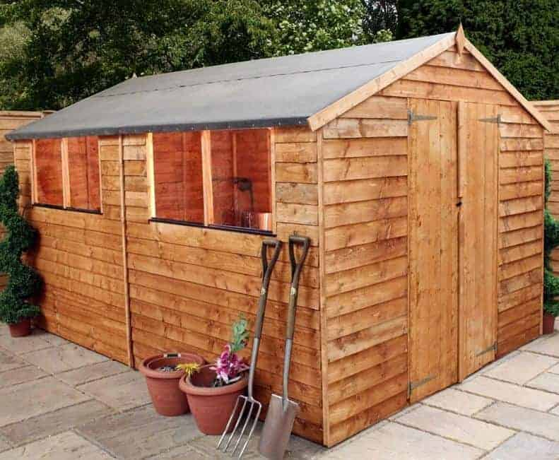 12' x 8' Windsor Overlap Double Door Apex Shed