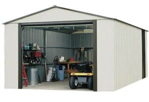 12'2 x 24'1 Arrow Murryhill VT1224 Metal Garage Side View