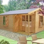 12'9 x 9'10 GardenStyle Azay 1 Log Cabin