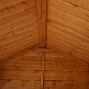 12x8 Waltons Groundsman Tongue and Groove Apex Garden Shed Inside View