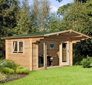13' x 10' Berkshire Swallowfield 34mm Log Cabin