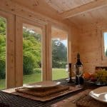 13' x 10' Berkshire Swallowfield 34mm Log Cabin Door and Ceiling