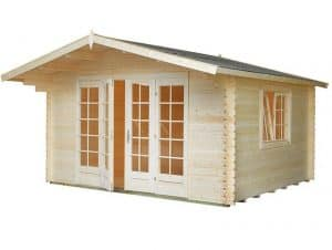 13' x 12' Palmako Florence 34mm Log Cabin Unpainted