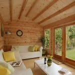 13'1 x 9'10 Berkshire Aldworth Log Cabin Inside View