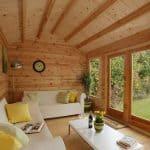 13'1 x 9'10 Berkshire Aldworth Log Cabin Inside View