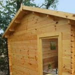 13'1 x 9'10 Berkshire Aldworth Log Cabin Windows and Roof
