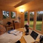 13'1 x 9'10 Berkshire Owlsmoor 44mm Log Cabin Ceiling Cladding and Door