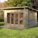 13'1x9'10 Berkshire Owlsmoor 44mm Log Cabin