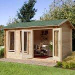 13'1x9'10 Berkshire Padworth 34mm Log Cabin