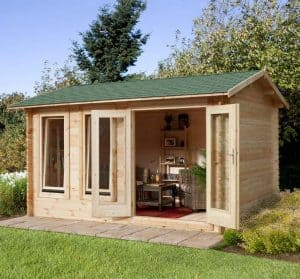 13'1x9'10 Berkshire Padworth 34mm Log Cabin