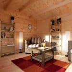 13'1x9'10 Berkshire Padworth 34mm Log Cabin Cladding and Flooring