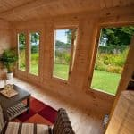 13'1x9'10 Berkshire Padworth 34mm Log Cabin Inside View