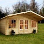 13'2 x 13'2 Alpine Nassfeld 28mm Log Cabin