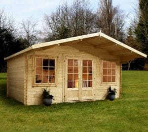 13'2 x 13'2 Alpine Nassfeld 28mm Log Cabin