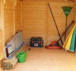 13'2 x 6'6 Shire Jersey Double Door Shed Internal View Open