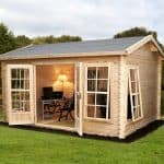 13'2 x 9'10 Alpine Arosa 28mm Log Cabin