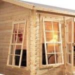 13'2 x 9'10 Alpine Arosa 28mm Log Cabin Unpainted