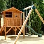 13'3 x 12' Windsor Tulip Activity Slide Tower Playhouse