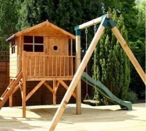 13'3 x 12' Windsor Tulip Activity Slide Tower Playhouse