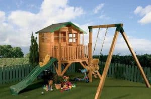 13'3 x 12' Windsor Tulip Activity Slide Tower Playhouse Painted Roof