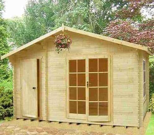 13'9 x 16'5 GardenStyle Chaumont Log Cabin