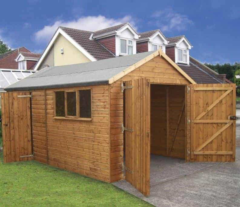 14' x 12' Traditional Deluxe Wooden Garage