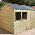14' x 8' Shed-Plus Champion Heavy Duty Reverse Apex Single Door Shed