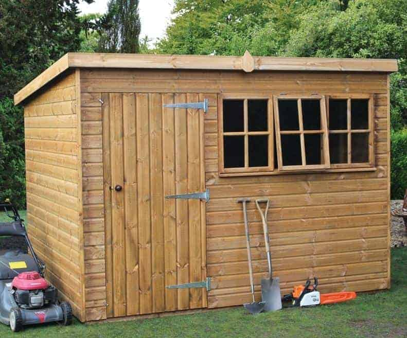 14' x 8' Traditional Heavy Pent Shed