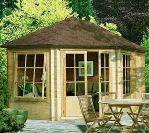 14'3 x 9'9 GardenStyle Villandry Corner Log Cabin