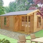 14'9 x 13'9 GardenStyle Azay 2 Log Cabin