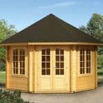 14'x14' Palmako Natalie 44mm Log Cabin