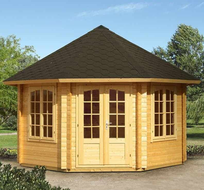 14'x14' Palmako Natalie 44mm Log Cabin