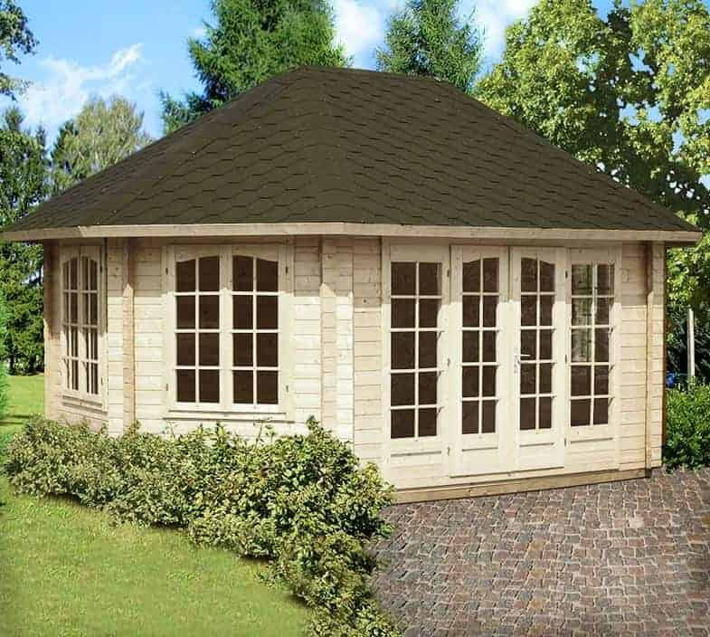 14'x19' Palmako Lisette 44mm Log Cabin
