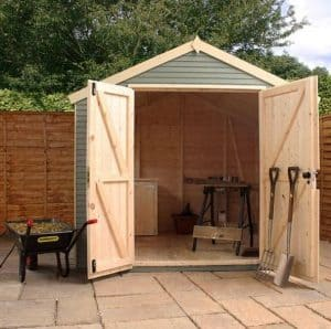 14x8 Mercia Ultimate Shed Double Doors