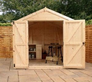 14x8 Mercia Ultimate Shed Front Wide Double Doors