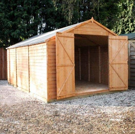 15 x 10 Waltons Windowless Overlap Apex Modular Garden Workshop