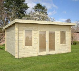 15' x 11' Palmako Jodie 44mm Log Cabin