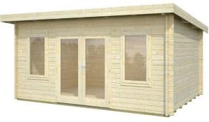 15' x 11' Palmako Jodie 44mm Log Cabin Unpainted