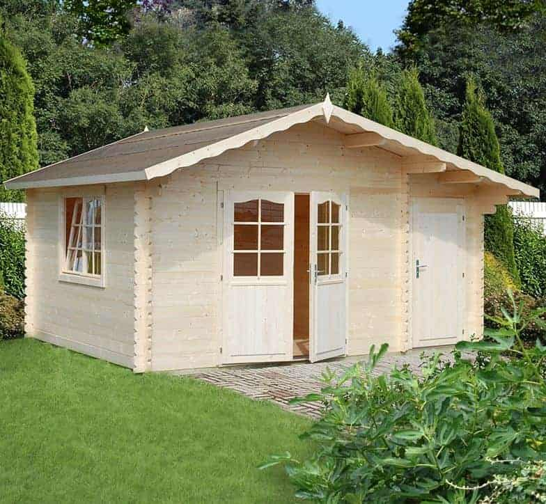 15' x 11' Palmako Louise 34mm Log Cabin