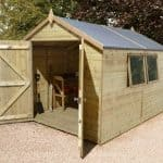 16' x 10' Shed-Plus Champion Heavy Duty Apex Double Door Shed