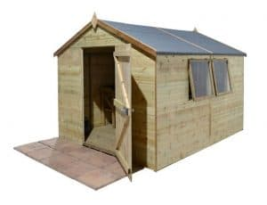 16' x 10' Shed-Plus Champion Heavy Duty Apex Single Door Shed Overall View