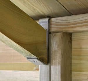 16' x 10' Shed-Plus Champion Heavy Duty Apex Single Door Shed Roof Support