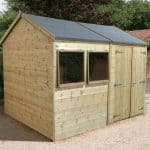 16' x 10' Shed-Plus Champion Heavy Duty Reverse Apex Double Door Shed