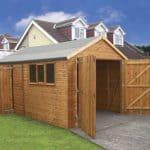 16' x 10' Traditional Deluxe Wooden Garage